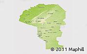 Physical Panoramic Map of Atakora, cropped outside