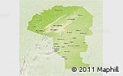 Physical Panoramic Map of Atakora, lighten