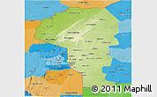 Physical Panoramic Map of Atakora, political shades outside