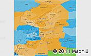 Political Shades Panoramic Map of Atakora