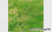 Satellite Panoramic Map of Atakora