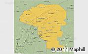 Savanna Style Panoramic Map of Atakora