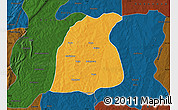 Political Map of Pehonko, darken