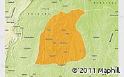 Political Map of Pehonko, physical outside