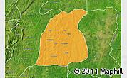 Political Map of Pehonko, satellite outside