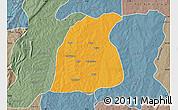 Political Map of Pehonko, semi-desaturated