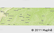 Physical Panoramic Map of Pehonko