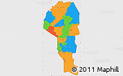 Political Simple Map of Atakora, cropped outside