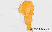 Political Shades Simple Map of Atakora, cropped outside