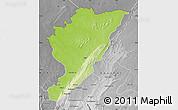 Physical Map of Tanguieta, desaturated