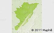 Physical Map of Tanguieta, lighten