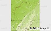 Physical Map of Tanguieta
