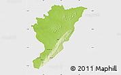 Physical Map of Tanguieta, single color outside