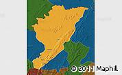 Political Map of Tanguieta, darken
