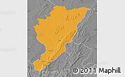Political Map of Tanguieta, desaturated