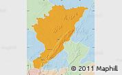 Political Map of Tanguieta, lighten