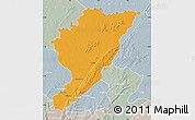 Political Map of Tanguieta, lighten, semi-desaturated