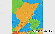 Political Map of Tanguieta