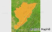 Political Map of Tanguieta, satellite outside