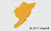 Political Map of Tanguieta, single color outside