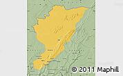 Savanna Style Map of Tanguieta