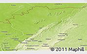 Physical Panoramic Map of Tanguieta