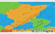 Political Panoramic Map of Tanguieta
