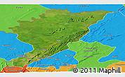 Satellite Panoramic Map of Tanguieta, political outside