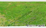 Satellite Panoramic Map of Tanguieta