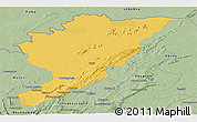 Savanna Style Panoramic Map of Tanguieta