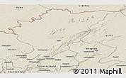 Shaded Relief Panoramic Map of Tanguieta