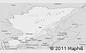 Silver Style Panoramic Map of Tanguieta