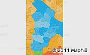 Political Shades 3D Map of Borgou