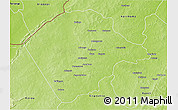Physical 3D Map of Banikoara