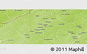 Physical Panoramic Map of Banikoara