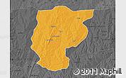 Political Map of Bembereke, darken, desaturated