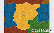 Political Map of Bembereke, darken