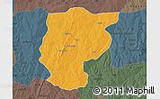 Political Map of Bembereke, darken, semi-desaturated