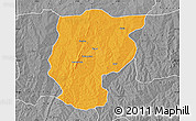 Political Map of Bembereke, desaturated