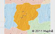 Political Map of Bembereke, lighten