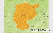 Political Map of Bembereke, physical outside