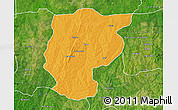 Political Map of Bembereke, satellite outside