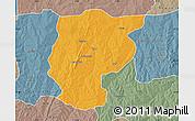 Political Map of Bembereke, semi-desaturated