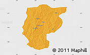 Political Map of Bembereke, single color outside