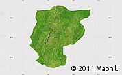 Satellite Map of Bembereke, cropped outside