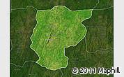 Satellite Map of Bembereke, darken