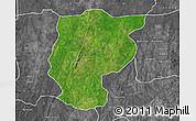 Satellite Map of Bembereke, desaturated