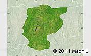 Satellite Map of Bembereke, lighten