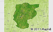 Satellite Map of Bembereke, physical outside