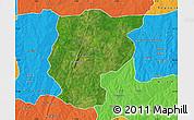 Satellite Map of Bembereke, political outside
